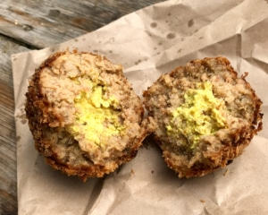 Two Scotch Eggs.